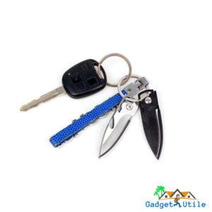 Mini couteau de poche multifonction noir ou argent - Boutique Gadget Utile