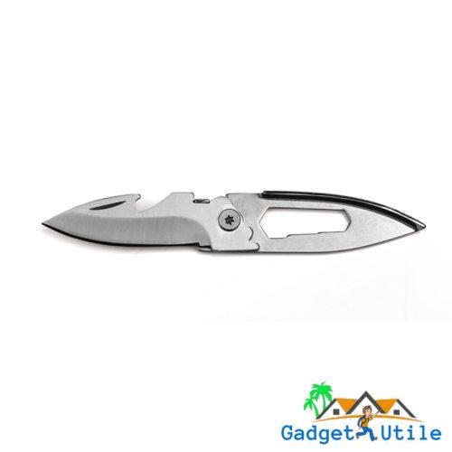 Mini couteau couleur argent (inox) de poche multifonction - Boutique Gadget Utile